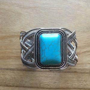 Turquoise Wrist Cuff - Costume Jewelry